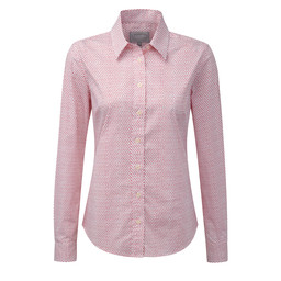 Schoffel Country Suffolk Shirt in Coral Dot