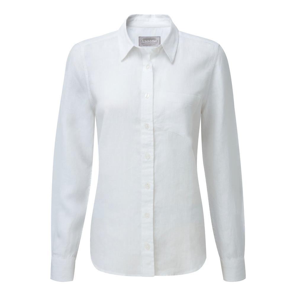 Saunton Linen Shirt White
