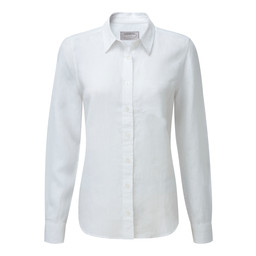 Schoffel Country Saunton Linen Shirt in White