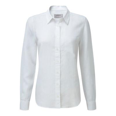 Schoffel Country Saunton Linen Shirt in White