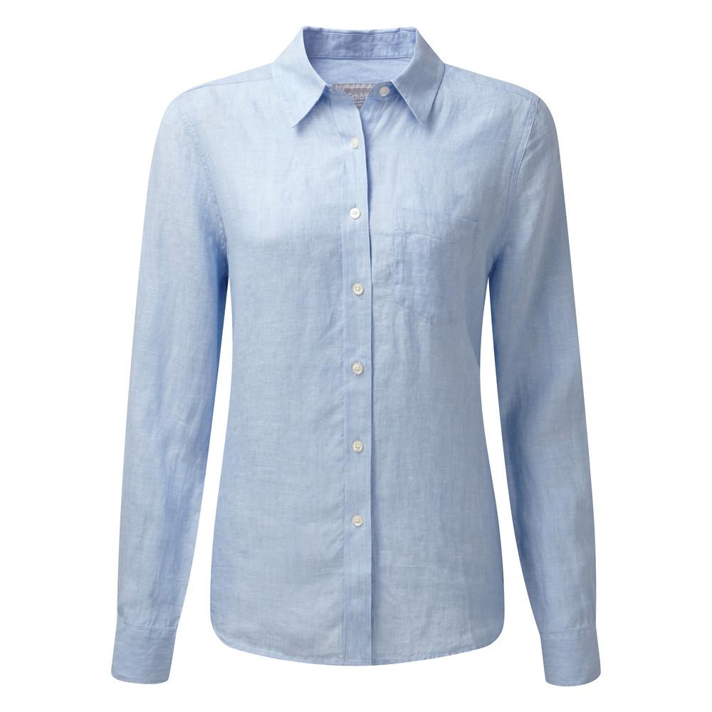 Saunton Linen Shirt Linen Lt Blue