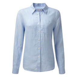 Schoffel Country Saunton Linen Shirt in Linen Lt Blue