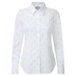 Schoffel Country Norfolk Shirt in Amalfi Bluebell