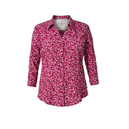 Royal Robbins Expedition Chill Print 3/4 Shirt in Raspberry Crush Flower Print