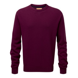 Schoffel Country Cotton Cashmere Crew Jumper in Fig