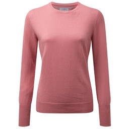 Schoffel Country Cotton Cashmere Crew Neck in Rose