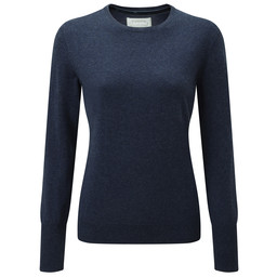Schoffel Country Cotton Cashmere Crew Neck in Indigo