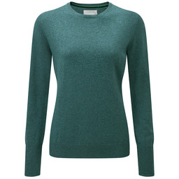 Schoffel Country Cotton Cashmere Crew Neck in Kingfisher