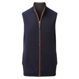 Schoffel Country Reversible Merino/Cashmere Gilet in Navy/Charcoal