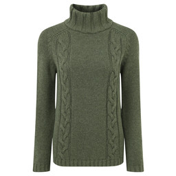 Merino Cable Roll Neck