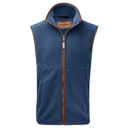 Schoffel Country Oakham Fleece Gilet in Denim