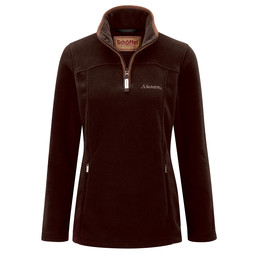 Schoffel Country Tilton 1/4 Zip Fleece in Espresso