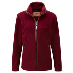 Schoffel Country Burley Fleece in Ruby