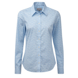 Schoffel Country Suffolk Shirt in Blue Floral