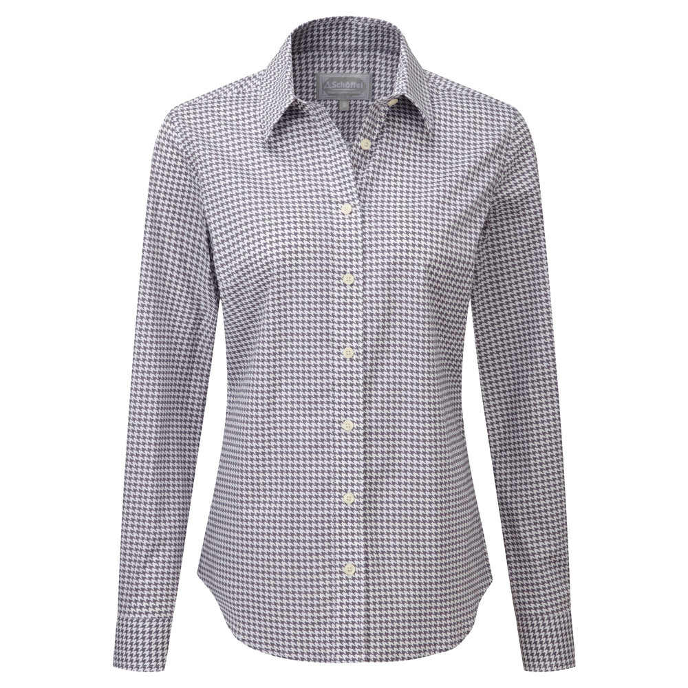 Suffolk Shirt Heather Houndstooth