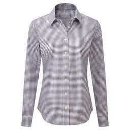 Schoffel Country Suffolk Shirt in Heather Houndstooth