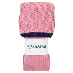 Schoffel Country Ladies Lattice Sock in Rose