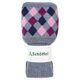 Schoffel Country Ladies Ptarmigan Sock in Grey/Dahlia/Rose/Navy