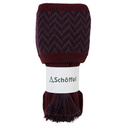 Schoffel Country Herringbone Sock in Mulberry/Aubergine/Forest