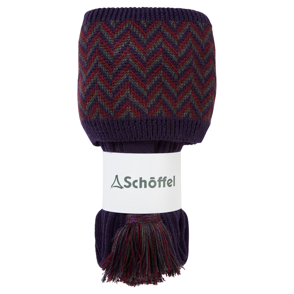 Herringbone Sock Aubergine/Forest/Mulberry