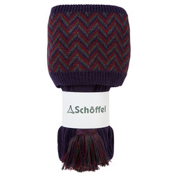 Schoffel Country Herringbone Sock in Aubergine/Forest/Mulberry