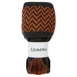 Schoffel Country Herringbone Sock in Forest/Ochre/Mulberry