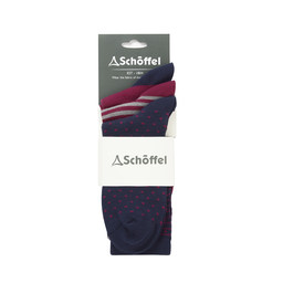 Beck Bamboo Sock (Pack of 3) Navy Mix