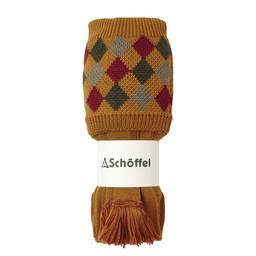 Schoffel Country Ptarmigan II Sock in Ochre/Brick/Navy/Dk Olive