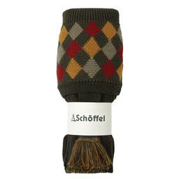 Schoffel Country Ptarmigan II Sock in Dk Olive/Ochre/Brick/Navy
