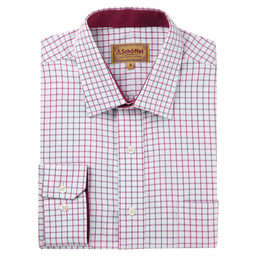 Schoffel Country Cambridge Classic Shirt in Raspberry