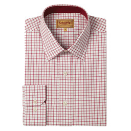 Schoffel Country Cambridge Classic Shirt in Red