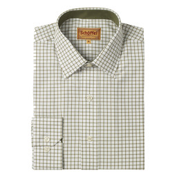 Schoffel Country Cambridge Shirt in Olive