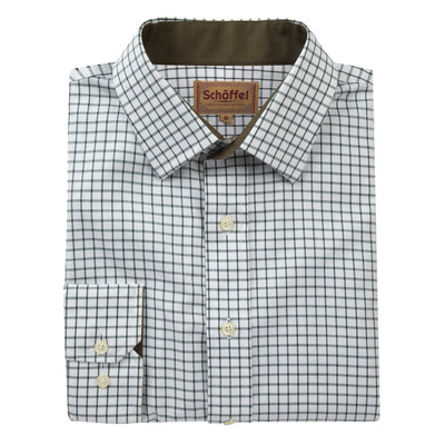Schoffel Country Cambridge Classic Shirt in Dark Olive