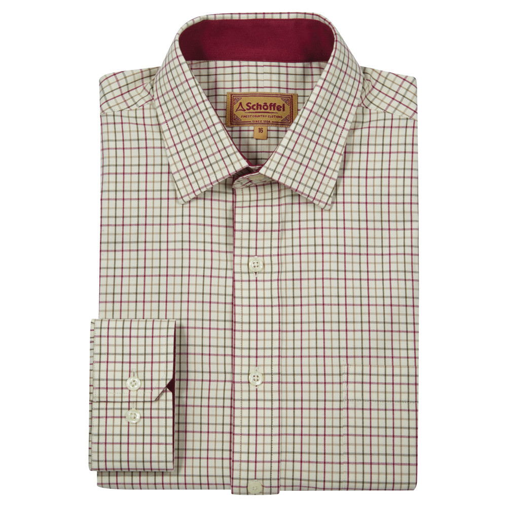 Burnham Tattersall Shirt Red/Green Check