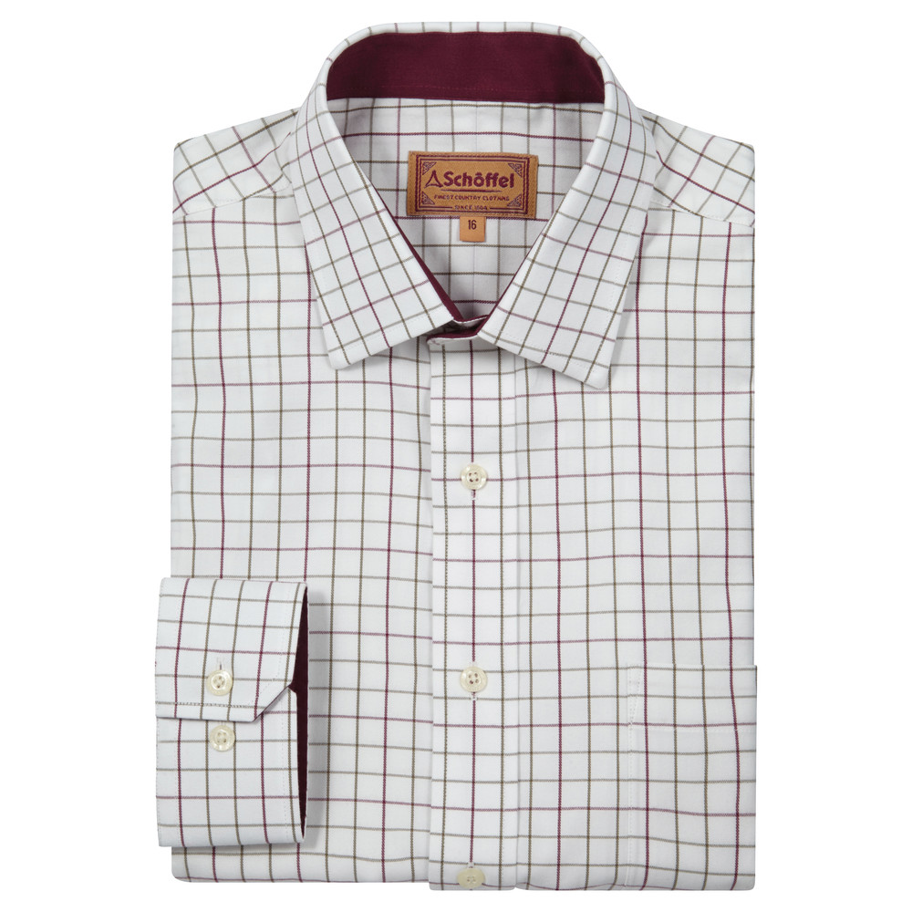 Burnham Tattersall Shirt Ruby Check