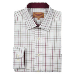 Schoffel Country Burnham Tattersall Classic Shirt in Ruby Check