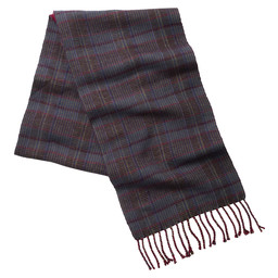 Merino Check Scarf Ruby