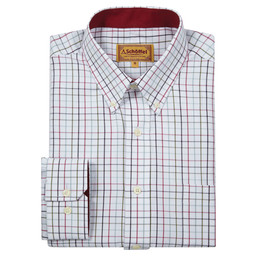 Schoffel Country Banbury Shirt in Red/Green Check