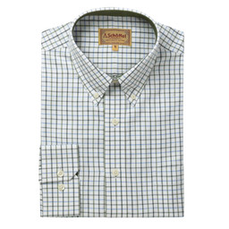 Schoffel Country Banbury Classic Shirt in Blue/Olive Check