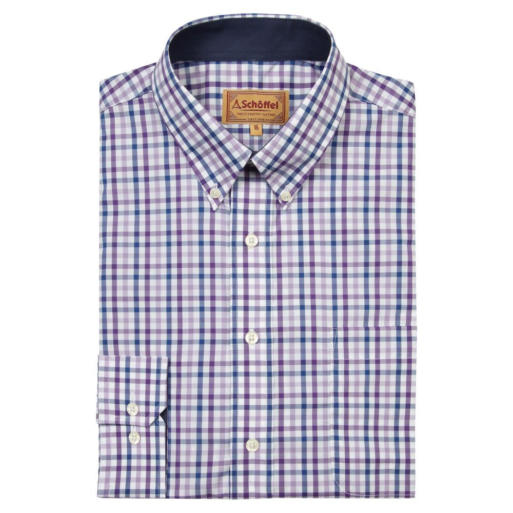 Holkham Classic Shirt Plum