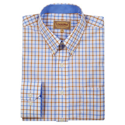 Schoffel Country Holkham Classic Shirt in Ochre Check