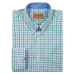 Schoffel Country Holkham Shirt in Green Check