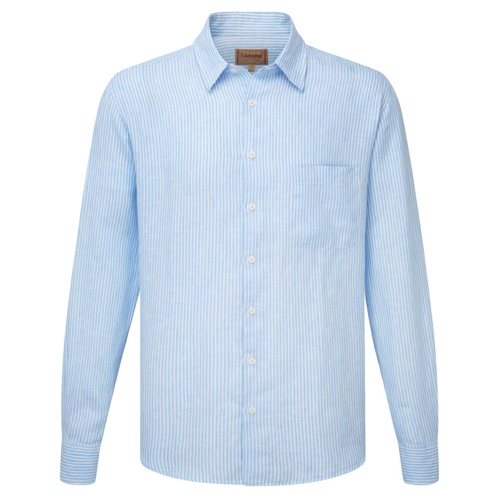 Thornham Shirt White/Blue Stripe