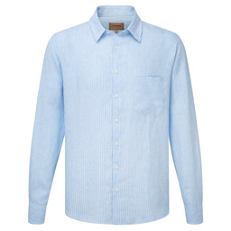 Schoffel Country Thornham Classic Shirt in White/Blue Stripe