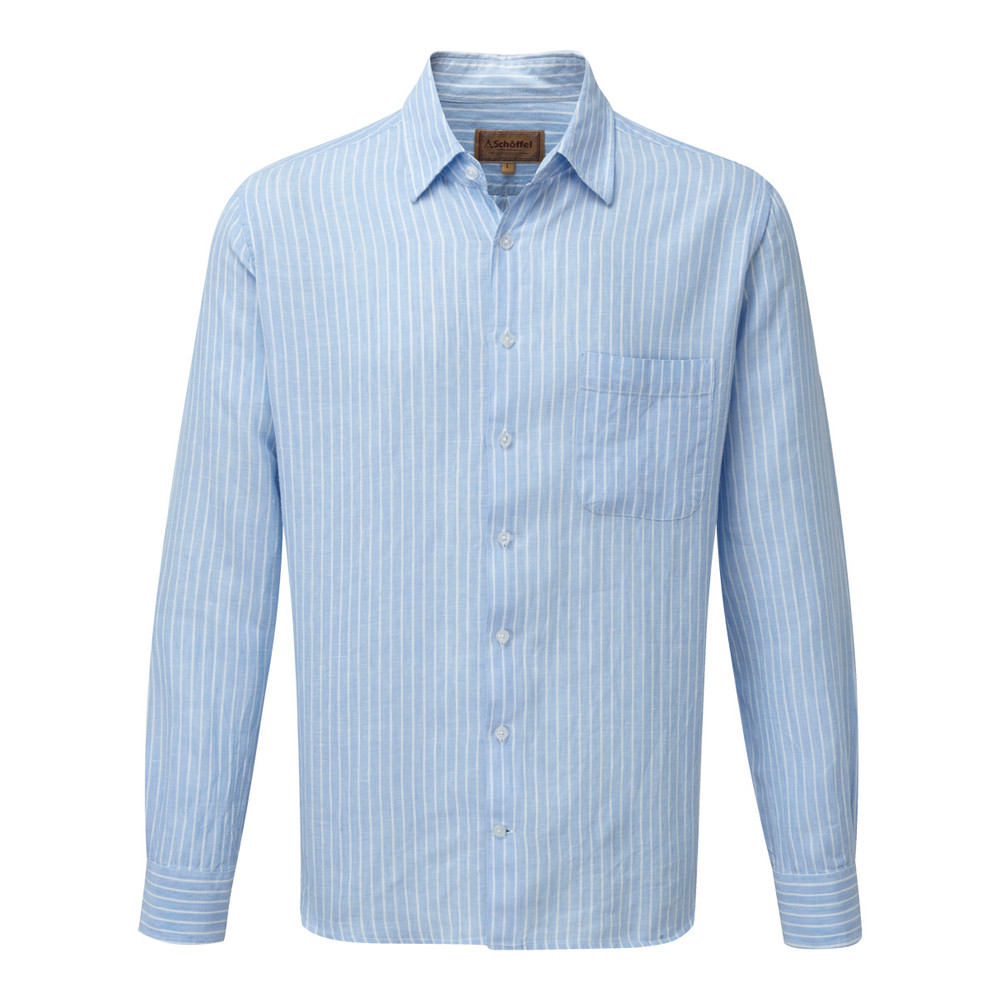 Thornham Shirt Lt Blue Stripe