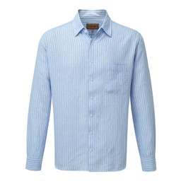 Schoffel Country Thornham Classic Shirt in Lt Blue Stripe