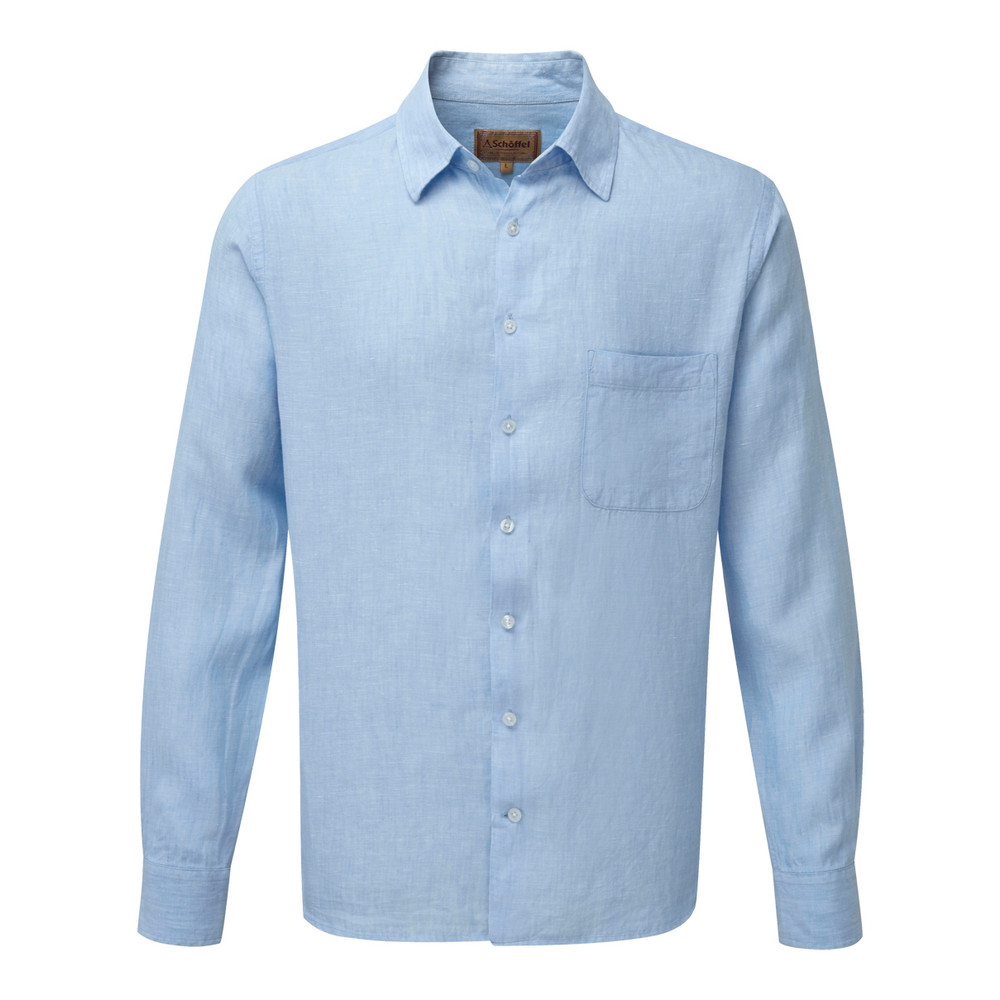 Thornham Shirt Linen Lt Blue