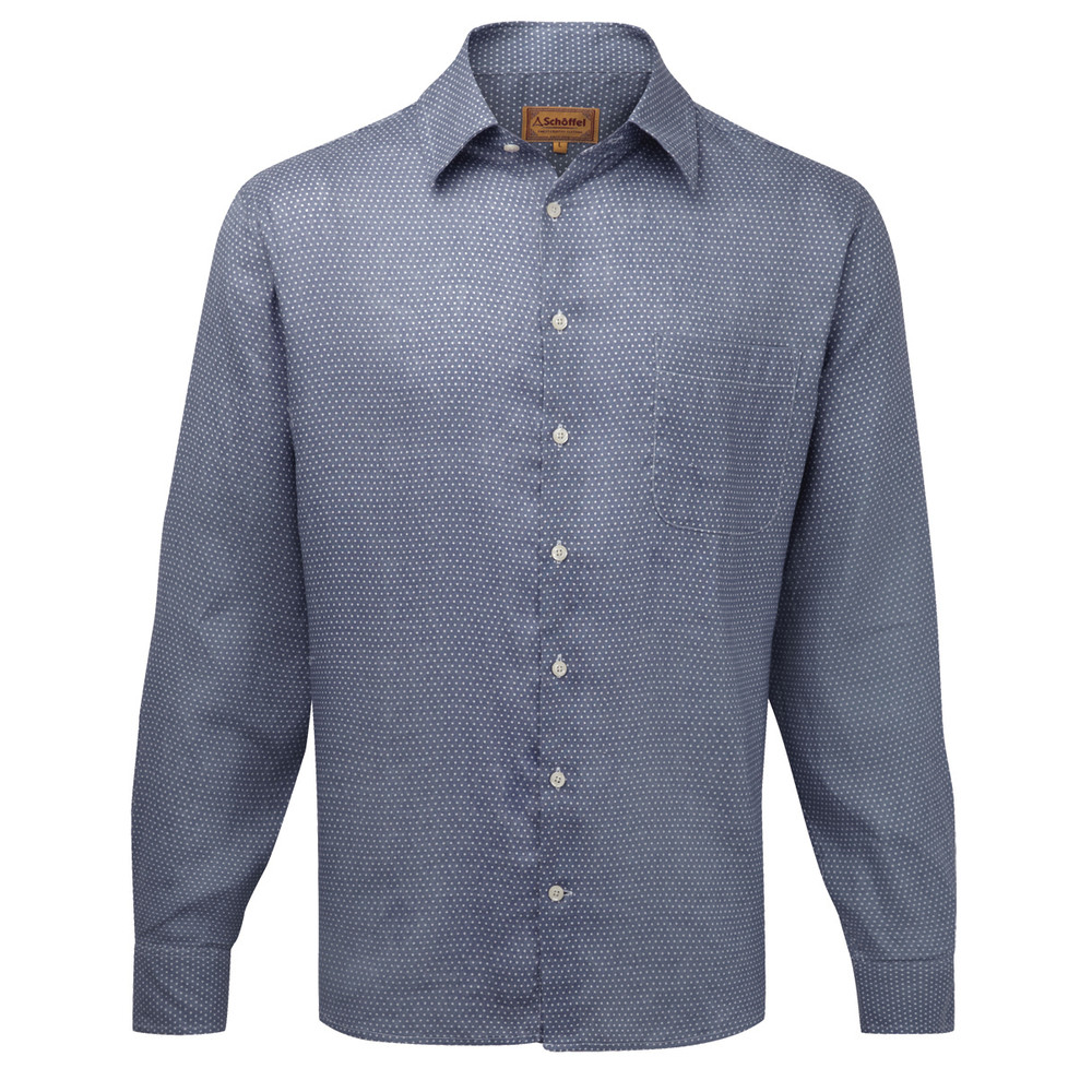 Thornham Classic Shirt Navy Dot