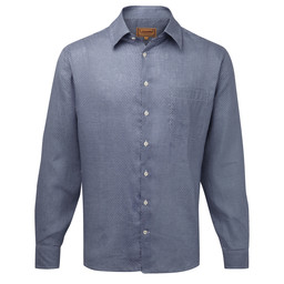 Schoffel Country Thornham Classic Shirt in Navy Dot