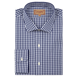 Schoffel Country Harlington Shirt in Navy Gingham